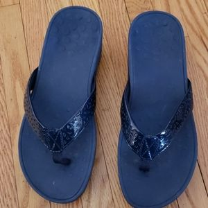 Brand New WOT Navy Blue Vionic Flip Flops